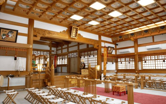 川原神社へ挙式のご予約(仮予約も可)